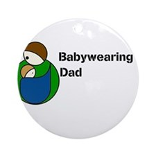 Babywearing Dad Ornament (Round)