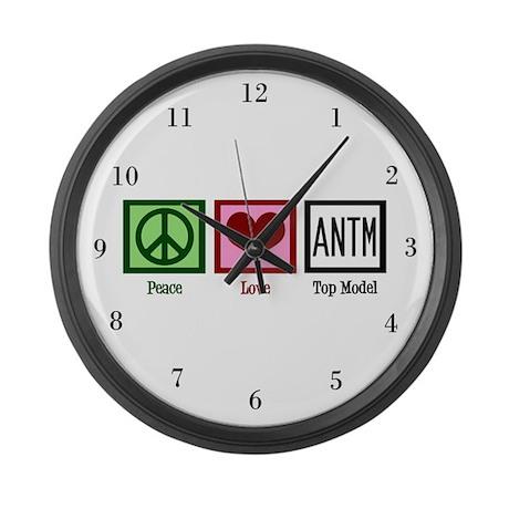 Peace Love Top Model Large Wall Clock