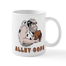 Funny Bowling Caveman Small Mug
