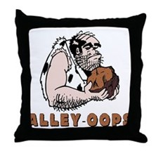 Funny Bowling Caveman Throw Pillow