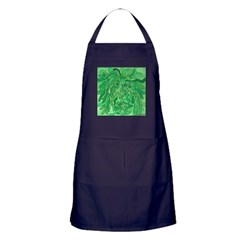Green Abstract Face Painting Apron (dark)