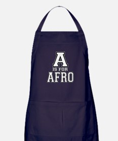 A is for Afro Apron (dark)