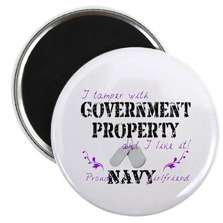 Tamper w Gov Property N Girlfriend Magnet