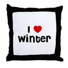 I * Winter Throw Pillow