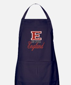 E is for England Apron (dark)
