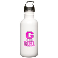 G is for Girl Water Bottle