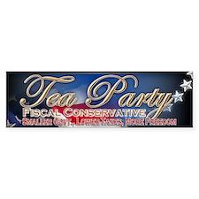 Tea Party Fiscal Conservative - Bumper Sticker
