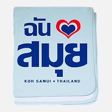 I Love (Heart) Koh Samui, Thailand baby blanket