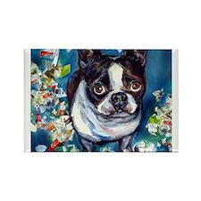 Boston Terrier shredder misch Rectangle Magnet