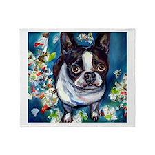Boston Terrier shredder misch Throw Blanket