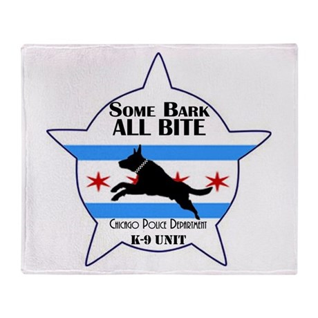 Some Bark ALL BITE Throw Blanket