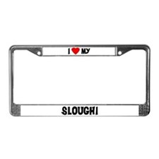 I Love My Sloughi License Plate Frame