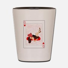 Queen of Hearts Pin-up Shot Glass