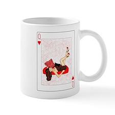 Queen of Hearts Pin-up Small Mug