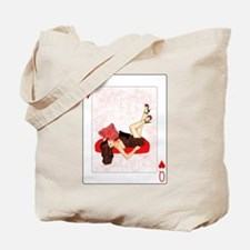 Queen of Hearts Pin-up Tote Bag