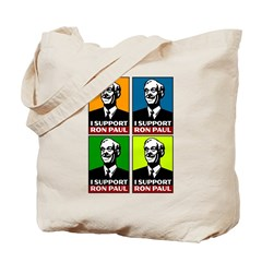I Support Ron Paul Tote Bag