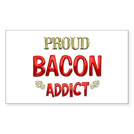 Bacon Addict Sticker (Rectangle)
