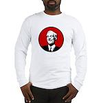 Circle - Red Long Sleeve T-Shirt