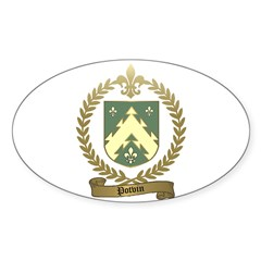 POTVIN Family Crest Decal