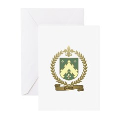 POTVIN Family Crest Greeting Cards (Pk of 10)