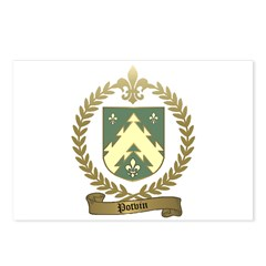 POTVIN Family Crest Postcards (Package of 8)