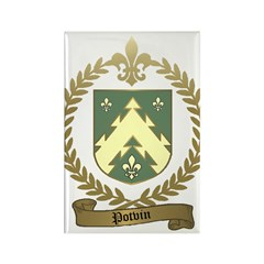 POTVIN Family Crest Rectangle Magnet (100 pack)