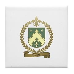 POTVIN Family Crest Tile Coaster