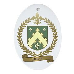 POTVIN Family Crest Ornament (Oval)