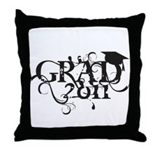 Fancy Grad 2011 Throw Pillow