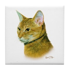 Abyssinian Cat Tile Coaster