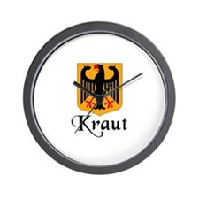 Kraut with Crest Wall Clock