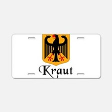 Kraut with Crest Aluminum License Plate