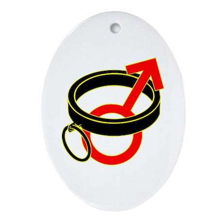 Male Submissive Collar Ornament (Oval)