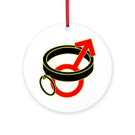 Male Submissive Collar Ornament (Round)