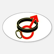 Male Submissive Collar Sticker (Oval)