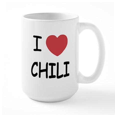 I heart chili Large Mug