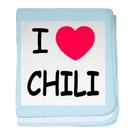 I heart chili baby blanket