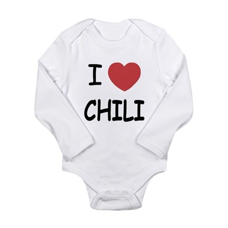 I heart chili Long Sleeve Infant Bodysuit