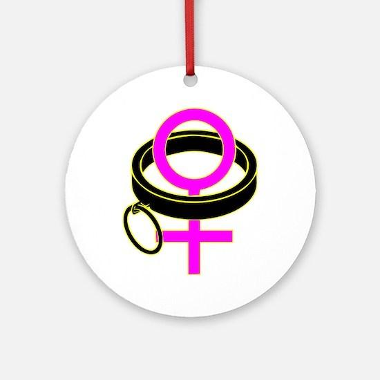 female submissive Ornament (Round)