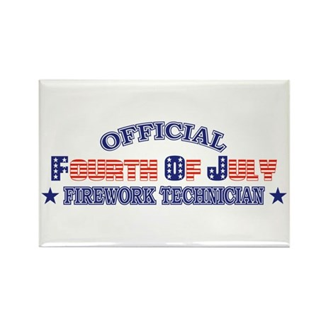 Official Fourth Of July Firework Technician Rectan