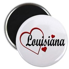"Love Louisiana Hearts 2.25"" Magnet (100 pack)"
