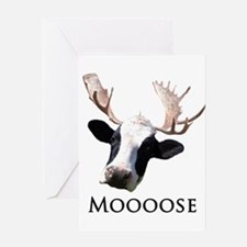 Moooose Greeting Card