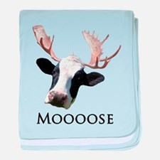 Moooose baby blanket