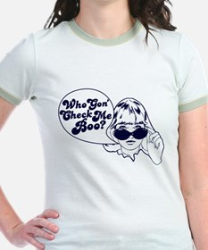 2-Who Gon Check Me Boo-Navy T-Shirt