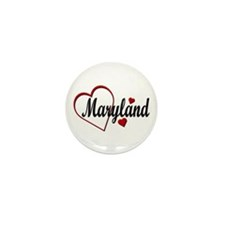 Love Maryland Hearts Mini Button (100 pack)
