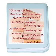 Love of Books Baby Blanket