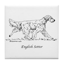 English Setter Tile Coaster