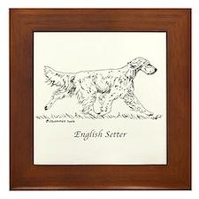 English Setter Framed Tile