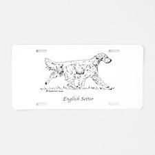 English Setter Aluminum License Plate