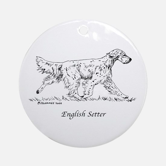 English Setter Ornament (Round)